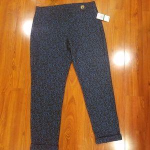 Michael Kors Blue with Black Lace design pants